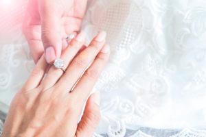 Princess Cut Halo Diamond Rings