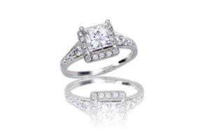 Princess Halo Diamond Ring