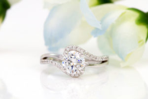 1 Carat Princess Cut Diamond Ring With Halo